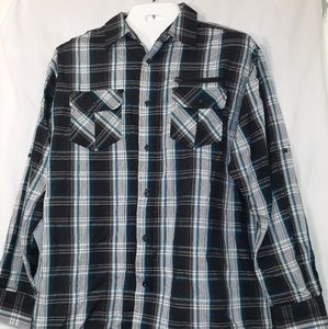 Mens Beverly Hills polo club plaid shirt
